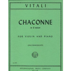 Vitali - Chaconne in G For Violin & Piano Published by International Music Company